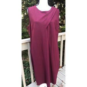Talbots Woman Shift Style Dress Wine Burgundy